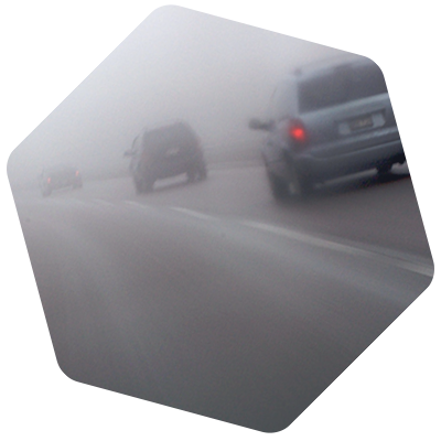 How driving safely in fog